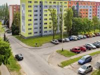 výhled z obývacího pokoje - Prodej bytu 2+kk v osobním vlastnictví 41 m², Česká Lípa