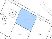 Rozdělení  pozemku - Prodej pozemku 1992 m², Pertoltice pod Ralskem