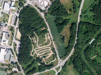 Pohled na soubor pozemků z výšky - Prodej pozemku 69342 m², Stráž pod Ralskem