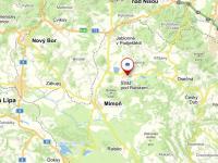 Umístění v krajině - Prodej pozemku 69342 m², Stráž pod Ralskem