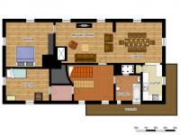 schéma patra - Prodej chaty / chalupy 290 m², Slunečná