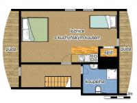 schéma podkroví - Prodej chaty / chalupy 290 m², Slunečná