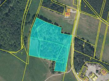 Katastrální mapa pozemku - Prodej pozemku 18546 m², Česká Lípa