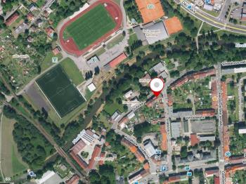 Mapa lokality - Prodej bytu 1+1 v osobním vlastnictví 39 m², Česká Lípa