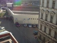 pohled z okna obývacího pokoje (Prodej bytu 4+1 v osobním vlastnictví 100 m², Praha 8 - Karlín)