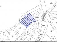zakreslená katastrální mapa (Prodej domu v osobním vlastnictví 290 m², Říčany)