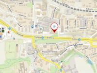 mapa umístění - Prodej kancelářských prostor 118 m², Praha 10 - Hostivař