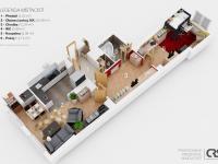 Plánek bytu (Prodej bytu 2+kk v osobním vlastnictví 63 m², Praha 6 - Břevnov)