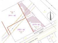 část určená k prodeji (Prodej pozemku 2279 m², Rudoltice)