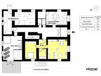 přízemí penzionu (Prodej bytu 1+kk 39 m², Červená Voda)