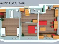 apartmán č. 6 (Prodej bytu 3+kk 76 m², Červená Voda)