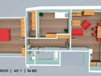 apartmán č. 7 (Prodej bytu 3+kk 94 m², Červená Voda)