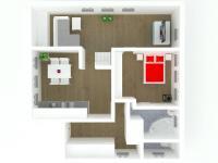 model bytu (Prodej bytu 3+kk v osobním vlastnictví 70 m², Vítkovice)