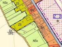Územní plán lokality (Prodej domu v osobním vlastnictví 488 m², Opatovec)