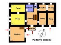 Půdorys přízemí (Prodej domu v osobním vlastnictví 488 m², Opatovec)