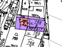 Katastrální mapa (Prodej domu v osobním vlastnictví 428 m², Opatov)