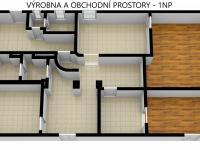 Výrobna a obchodní prostory v 1NP (Prodej nájemního domu 706 m², Lanškroun)