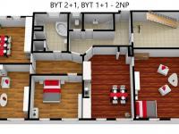 Byt 1+1 a 2+1 v 2NP (Prodej nájemního domu 706 m², Lanškroun)