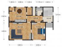 přízemí půdorys (Prodej domu v osobním vlastnictví 163 m², Kostelec nad Orlicí)