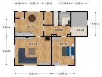 1. patro půdorys (Prodej domu v osobním vlastnictví 163 m², Kostelec nad Orlicí)