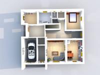 Půdorys přízemí (Prodej domu v osobním vlastnictví 256 m², Horní Třešňovec)