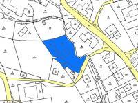 Katastrální mapa (Prodej domu v osobním vlastnictví 256 m², Horní Třešňovec)