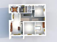 Půdorys 1. patro (Prodej domu v osobním vlastnictví 256 m², Horní Třešňovec)