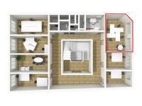 Pronájem kancelářských prostor 28 m², Broumov