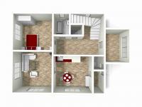 3D model 1.NP (Prodej domu v osobním vlastnictví 160 m², Záchlumí)