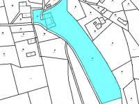 situace nemovitosti a pozemků v mapě (Prodej domu v osobním vlastnictví 200 m², Líšnice)
