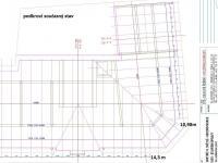 rozměry současného stavu pokroví (Prodej domu v osobním vlastnictví 470 m², Lanškroun)
