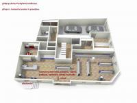 3D půdorys přízemí s komerčním využitím (Prodej domu v osobním vlastnictví 470 m², Lanškroun)