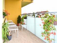 balkón (Prodej bytu 2+kk v osobním vlastnictví 65 m², Olomouc)