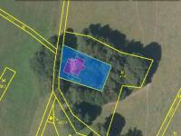 ortofotomapa s hranicemi parcel (Prodej chaty / chalupy 94 m², Liberk)