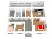 3D pohled (Prodej domu v osobním vlastnictví 112 m², Damníkov)
