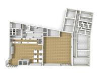 3D půdorys prodejny, kanceláří, skladů (Prodej komerčního objektu 4300 m², Ústí nad Orlicí)