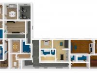 model vybudovaných bytů v přízemí (Prodej domu 350 m², Letohrad)