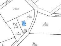 situace mapa katastru (Prodej chaty / chalupy 65 m², Česká Třebová)