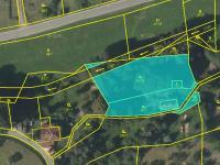 Zobrazení pozemku v katastru nemovitostí (Prodej domu v osobním vlastnictví 150 m², Lupenice)
