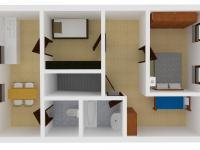 Vizualizace domu - podkroví (Prodej domu v osobním vlastnictví 150 m², Lupenice)