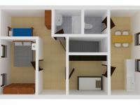 Vizualizace domu - podkroví (Prodej pozemku 2629 m², Lupenice)