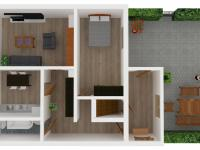 3D přízemí (Prodej domu v osobním vlastnictví 160 m², Lanškroun)