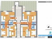 půdorys podlaží - Prodej bytu 2+kk v osobním vlastnictví 49 m², Příbram