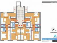 půdorys podlaží - Prodej bytu 2+kk v osobním vlastnictví 50 m², Příbram