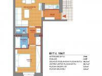 půdorys bytu - Prodej bytu 2+kk v osobním vlastnictví 50 m², Příbram