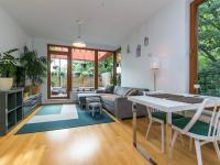 Obývací pokoj (Pronájem bytu 2+kk v osobním vlastnictví 50 m², Praha 5 - Košíře)