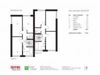 2.NP - Pronájem domu v osobním vlastnictví 114 m², Praha 9 - Vinoř