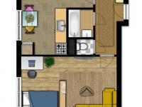 Prodej bytu 1+1 v družstevním vlastnictví 34 m², Vsetín