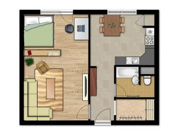 Pronájem bytu 1+1 v osobním vlastnictví 42 m², Brno