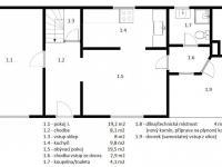 Přízemí - plán (Prodej domu v osobním vlastnictví 140 m², Třebenice)